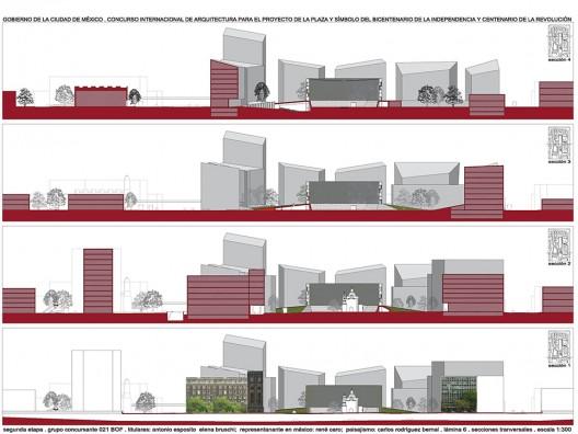 Plaza y Simbolo del Bicentenario. Ciudad de México Progetto Vincitore, Studio di Architettura Bruschi Esposito